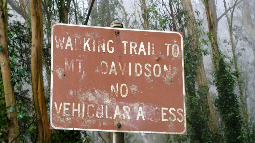 The Mount Davidson trailhead