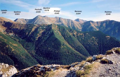 From Sivy Vrch to the east - Western Tatras