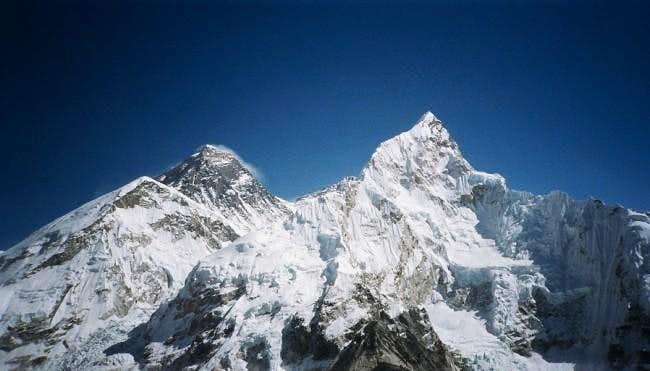 Everest and Nuptse...