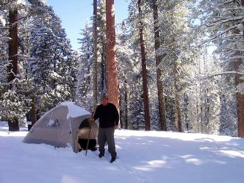 Camping at Azalea Campground in the Winter