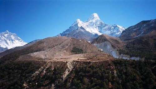 View from near Pangboche,...