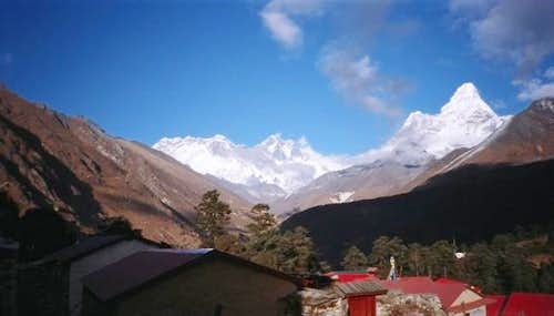 Ama Dablam, with Everest...