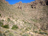 Approaching the Superstition Ridge