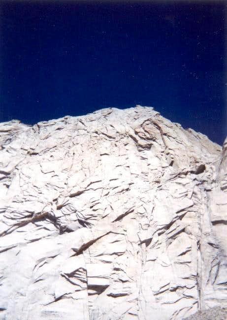 Mt. Conness' huge SW face...
