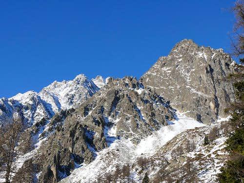 L'aiguille de l'Aroletta (2701m), versante est