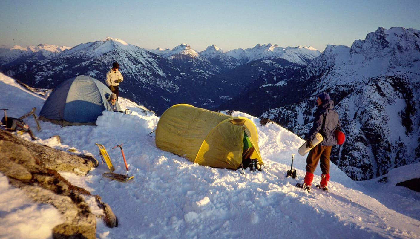 C& on the S side of Davis Peak & Davis Peak : Climbing Hiking u0026 Mountaineering : SummitPost