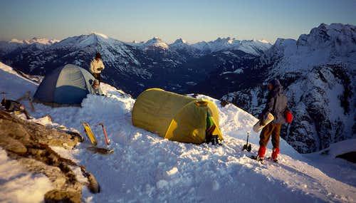 Camp on the S side of Davis Peak