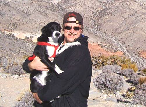 My dog Hobo and I at the summit