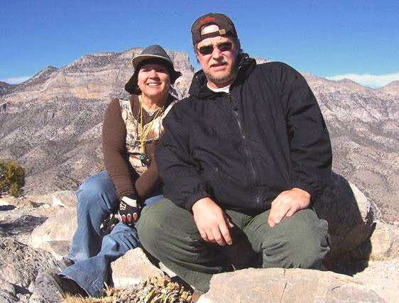 My friend Sherry and I at the summit