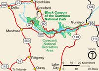 NPS Black Canyon of the Gunnison Area Map
