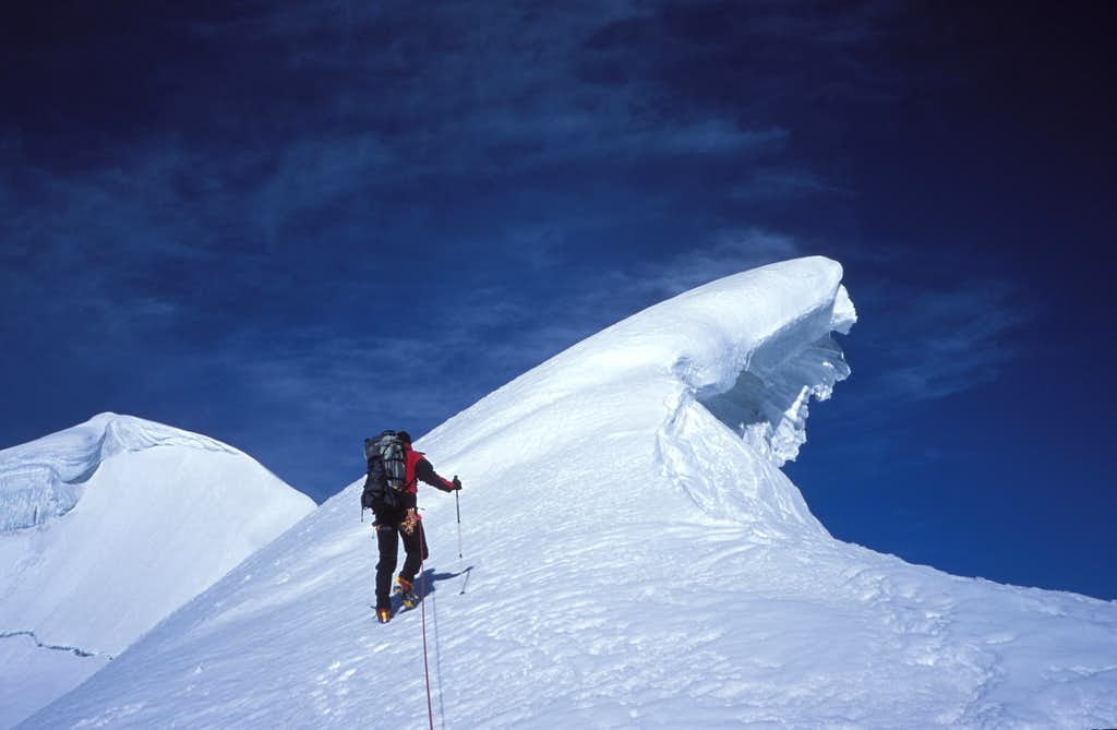 Approaching the Summit (left) of Yazghil Sar