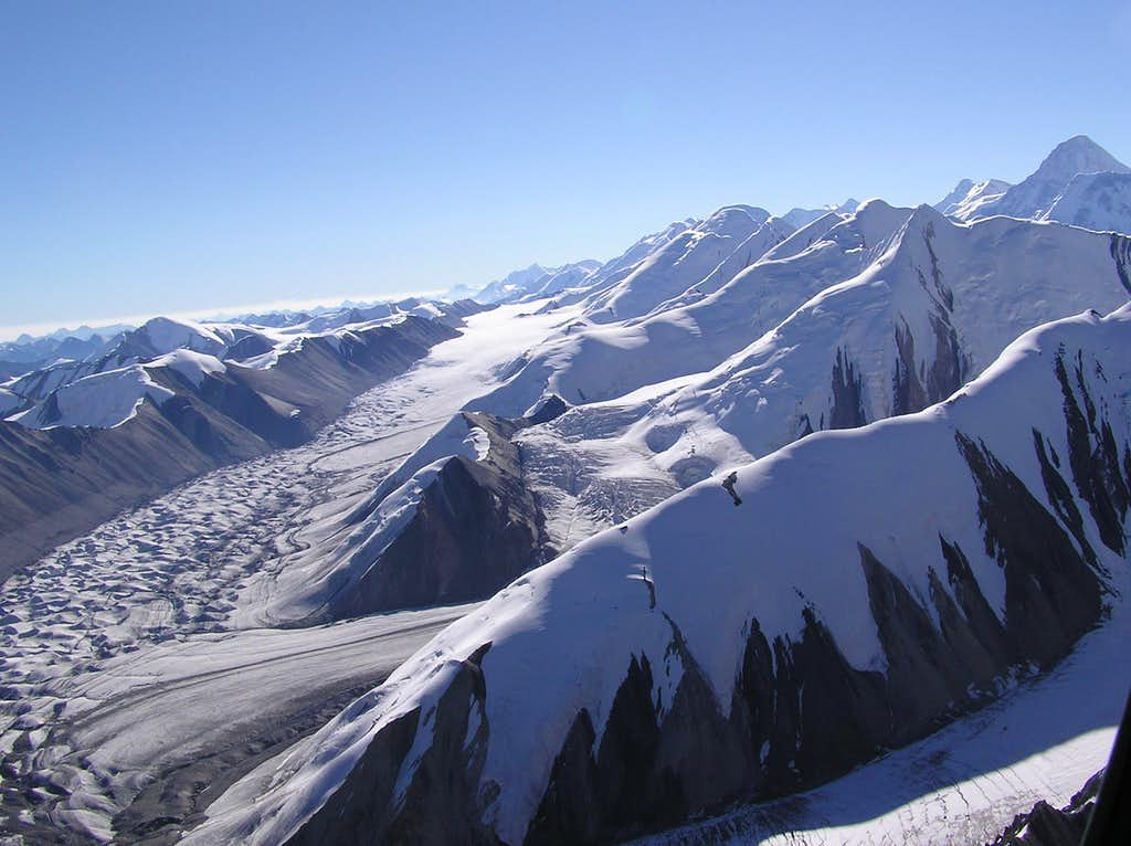 The Central Tian Shan as seen from the Helicopter to Khan Tengri's & Pobeda's Base Camp
