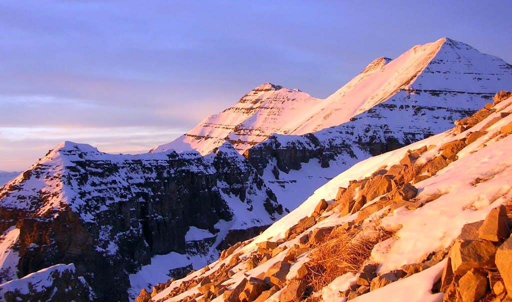 South Summit, 2nd Summit, and Mt Timpanogos at Sunset