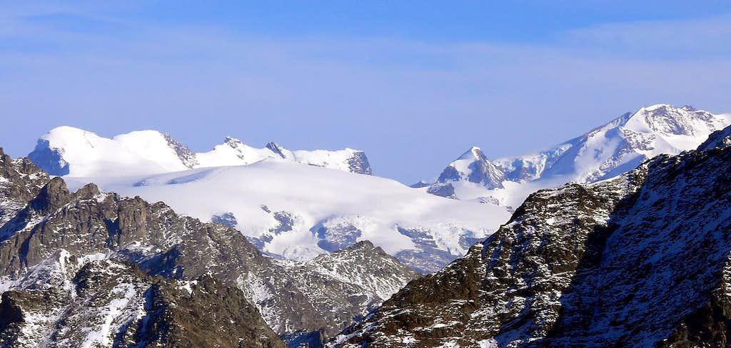 Il gruppo del Breithorn dal colle di Viou