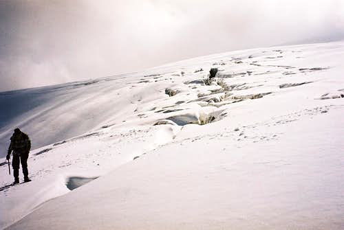 Clefts in the glacier