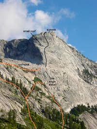 The NW Buttress . Several...