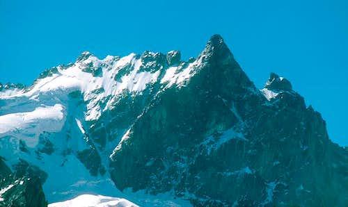 La Meije main ridge from NE