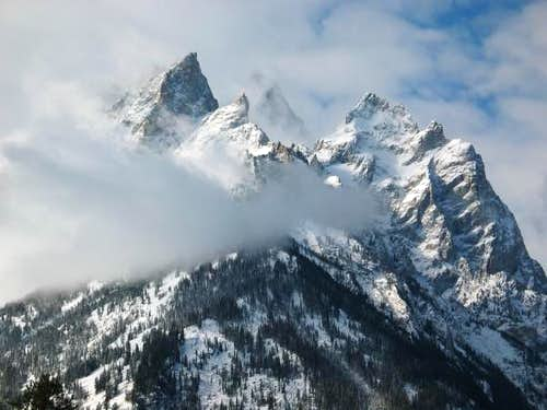 Tetons in the Clouds