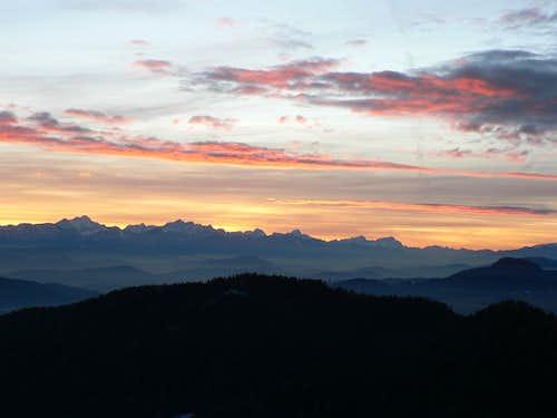 Julian Alps sunset