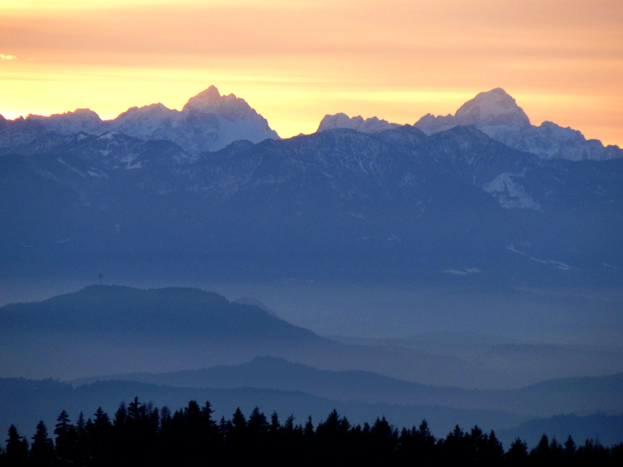 Julian Alps sunset