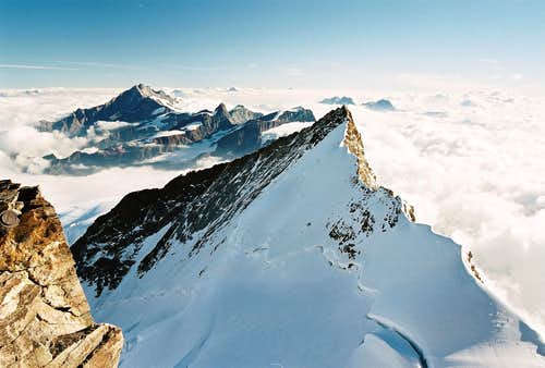Nordend as seen from Dufourspitze