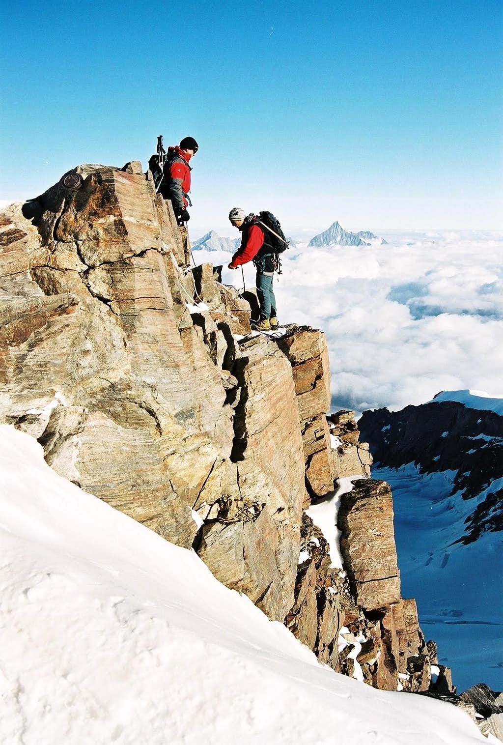 Almost at the top of Dufourspitze