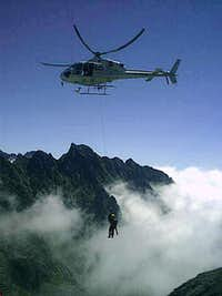 Tatras mountain rescue team in action