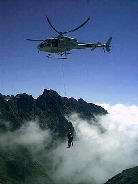Tatras mountain rescue team in action