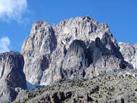 The main peaks of the Mount Kenya from the Shipton s Camp