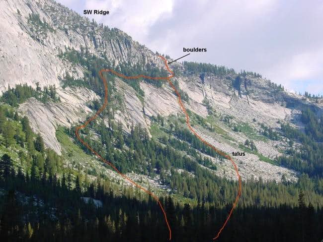 The West Face route, commonly...