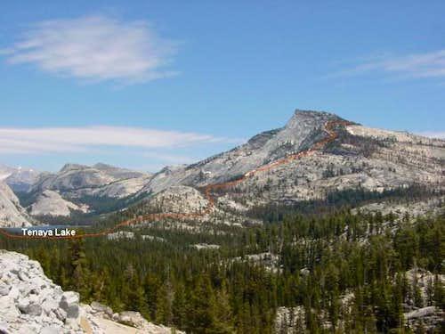 The SW Ridge of Tenaya Peak....