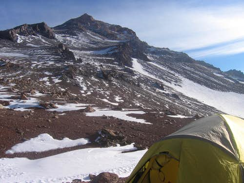 High camp at 17,800 ft.