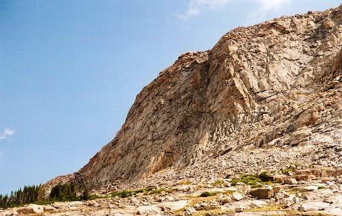 Cliffs near Lost Twin Lakes