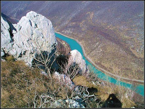 Soca canyon from Sabotin