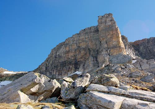 On final steps to Ritterpass, the Torre Vitali