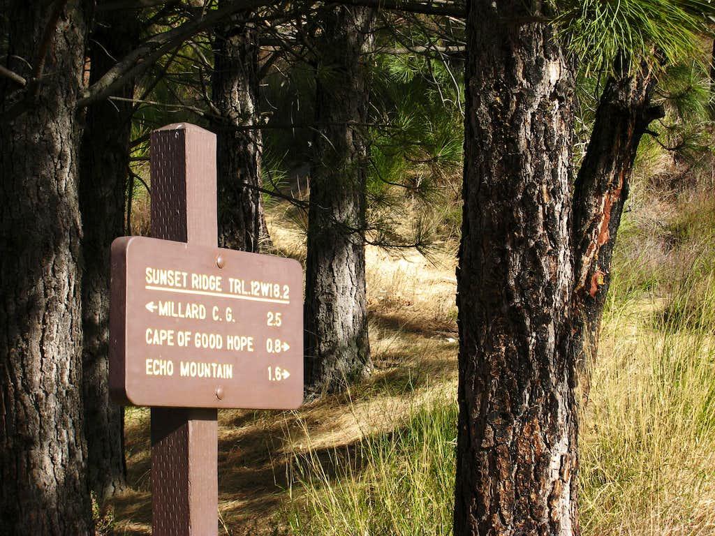 At Sierra Saddle Along Sunset Ridge Trail