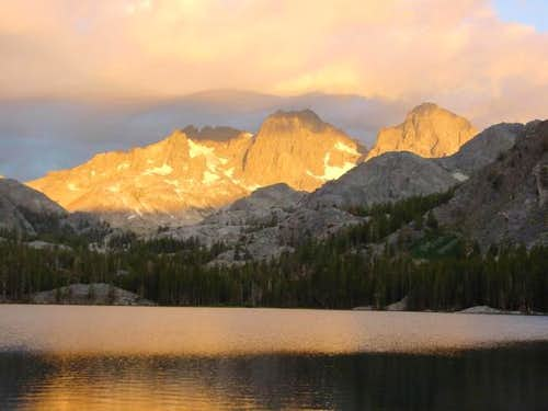 Mt. Ritter and Banner Peak at...
