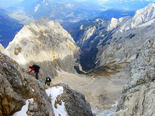 Deep view - Climbing Zugspitze