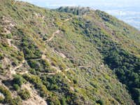 Echo Mountain (3,207 ) (R), San Gabriel Mountains