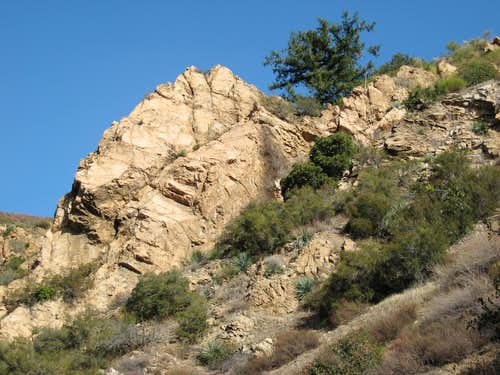 Rock Outcrop Below Cape of Good Hope, San Gabriel Mountains