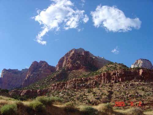 Zion on a sunny day