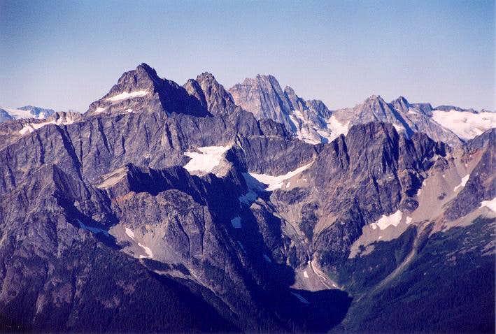 Black Peak is at left-center...