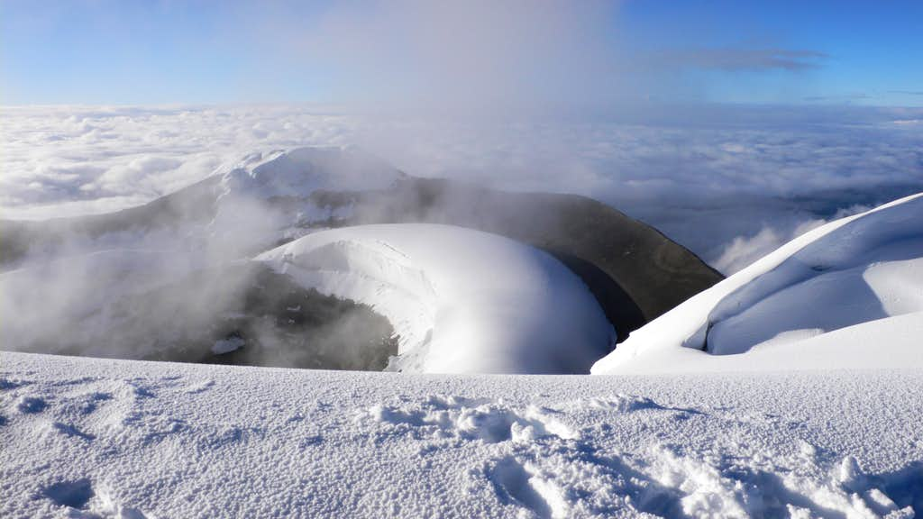 Crater on Cotopaxi