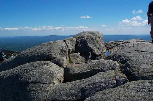 The summit rock of Mt....