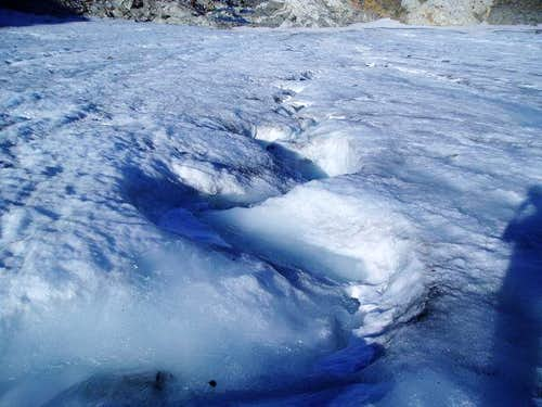 Overcoat Glacier surface stream