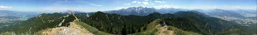 Techantiger Mittagskogel full 360 deg summit panorama