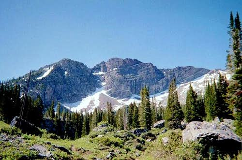 Devil's Castle viewed from Albion Basin