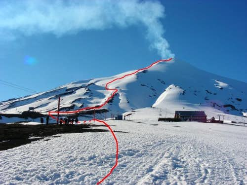 Volcan Villarrica from the ski station