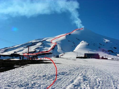 Volcan Villarrica from the ski station