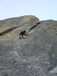 Me soloing Wheat Thin (5.7)...